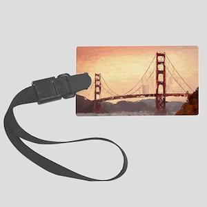 Golden Gate Bridge Inspiration Large Luggage Tag