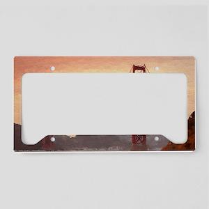 Golden Gate Bridge Inspiratio License Plate Holder