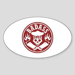 Badass Chef Red Sticker