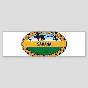 SAVANA - safari Bumper Sticker