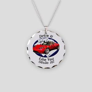 Tesla Roadster Necklace Circle Charm