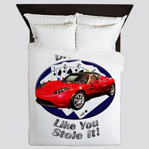 Tesla Roadster Queen Duvet