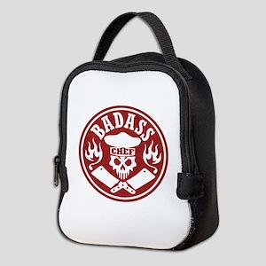 Badass Chef Red Neoprene Lunch Bag