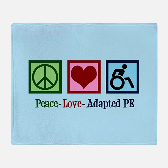 Adapted PE Teacher Throw Blanket