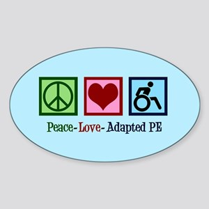 Adapted PE Teacher Sticker (Oval)