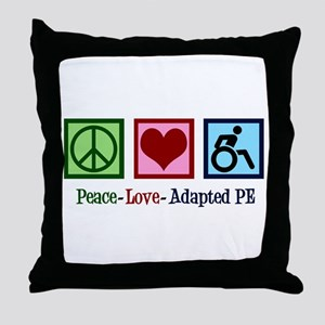 Adapted PE Teacher Throw Pillow