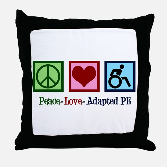 Adapted PE Teacher Throw Pillow