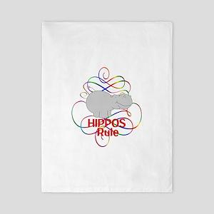 Hippos Rule Twin Duvet