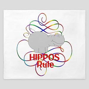 Hippos Rule King Duvet