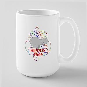Hippos Rule Large Mug
