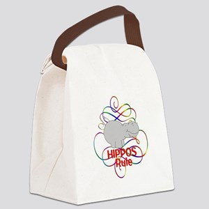 Hippos Rule Canvas Lunch Bag