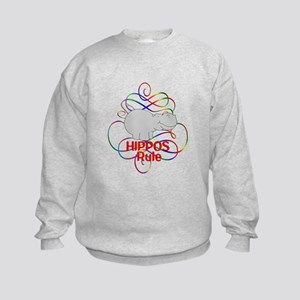 Hippos Rule Kids Sweatshirt