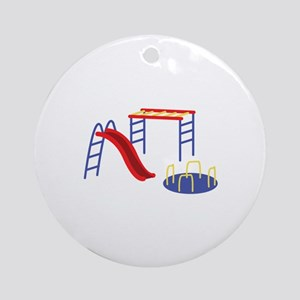 Playground Equipment Round Ornament