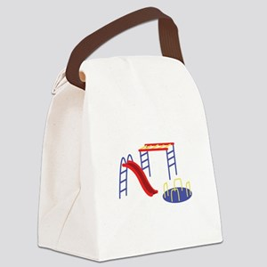 Playground Equipment Canvas Lunch Bag