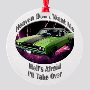 Plymouth Roadrunner Round Ornament