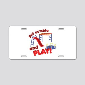 Outside And Play Aluminum License Plate