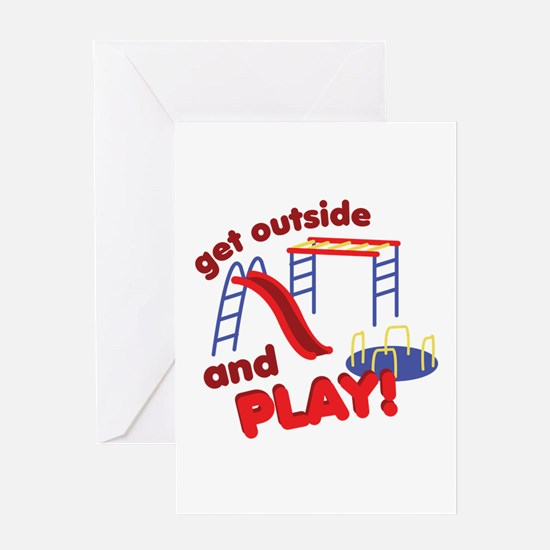 Outside And Play Greeting Cards