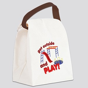 Outside And Play Canvas Lunch Bag