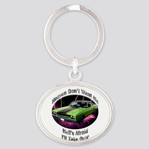 Plymouth Roadrunner Oval Keychain