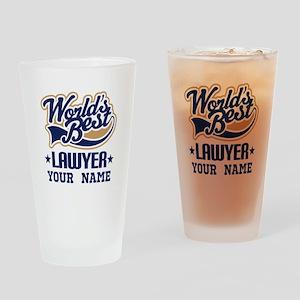 Worlds Best Lawyer gift Drinking Glass