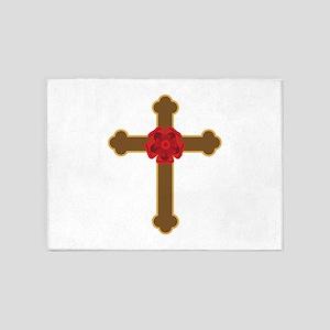 Rosy Cross 5'x7'Area Rug