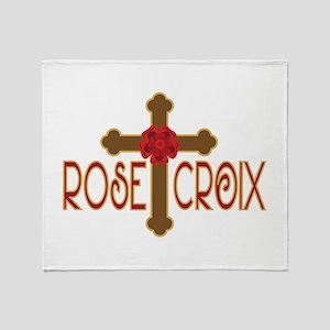 Rose Croix Throw Blanket