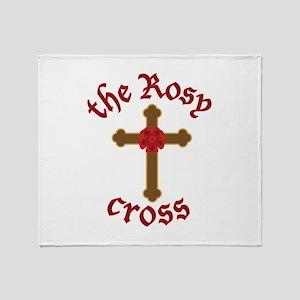 The Rosy Cross Throw Blanket