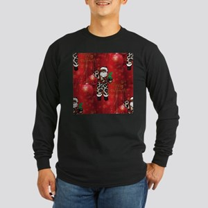 african leopard santa Long Sleeve T-Shirt