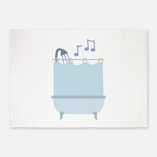 Sing In Shower 5'x7'Area Rug