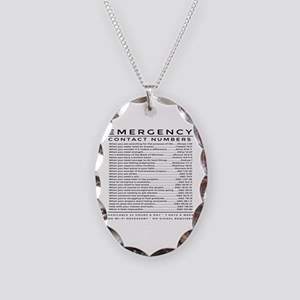 bible emergency number Necklace Oval Charm