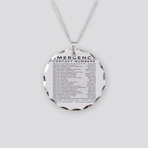 bible emergency number Necklace Circle Charm