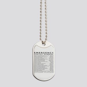 bible emergency number Dog Tags