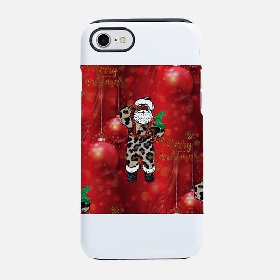 african leopard santa iPhone 8/7 Tough Case