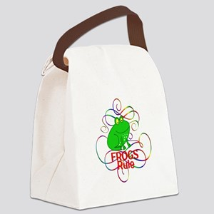 Frogs Rule Canvas Lunch Bag