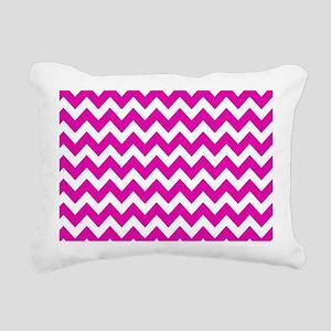 Hot Pink Chevron Pattern Rectangular Canvas Pillow