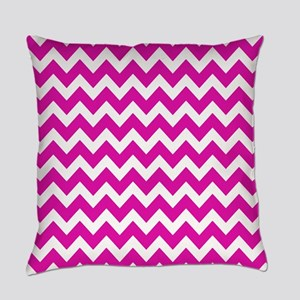 Hot Pink Chevron Pattern Everyday Pillow