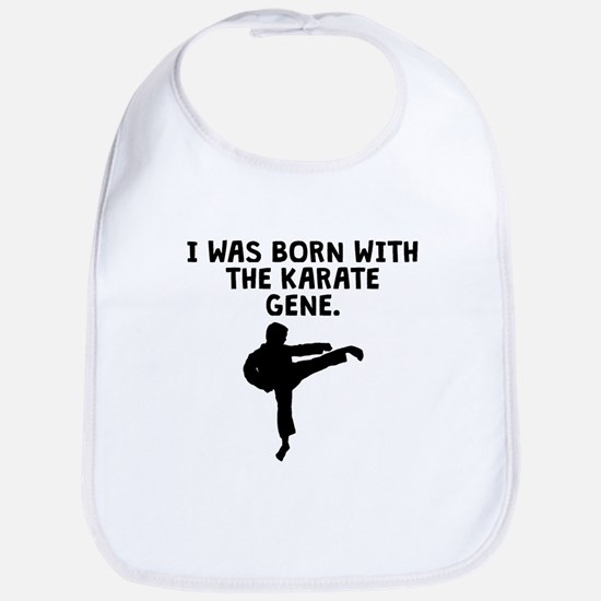 Born With The Karate Gene Bib