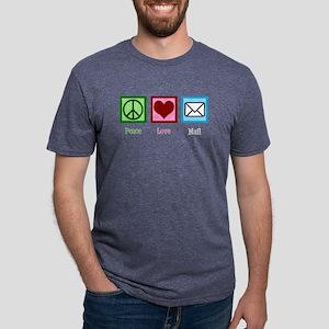 Peace Love Mail Mens Tri-blend T-Shirt