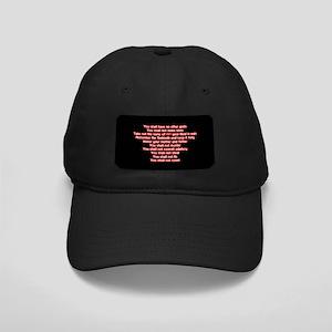 Ten Commandments Black Cap