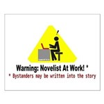 Warning: Novelist at Work Small Poster