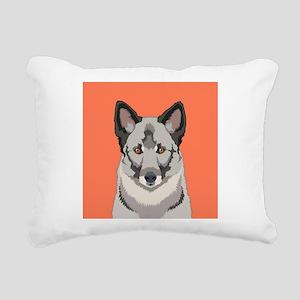 Norwegian Elkhound Rectangular Canvas Pillow