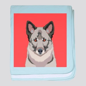 Norwegian Elkhound baby blanket