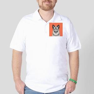 Norwegian Elkhound Golf Shirt