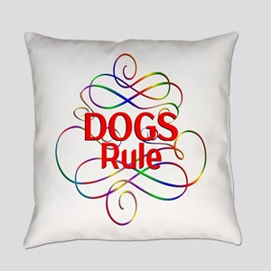 Dogs Rule Everyday Pillow