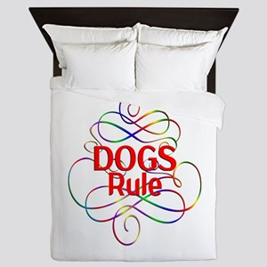 Dogs Rule Queen Duvet