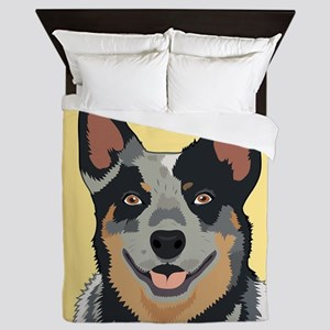 Australian Cattle Dog Queen Duvet
