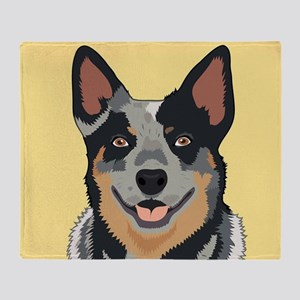 Australian Cattle Dog Throw Blanket