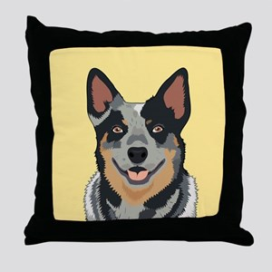 Australian Cattle Dog Throw Pillow