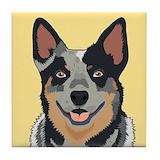 Australian cattle dog Tile Coasters