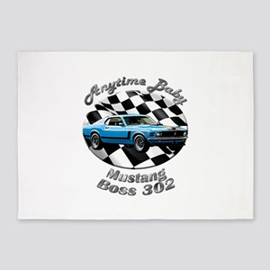 Ford Mustang Boss 302 5`x7`Area Rug